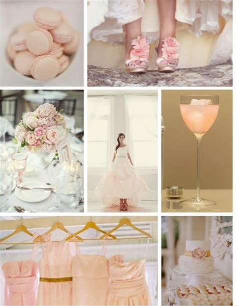 dusty mauve peach cream and more wedding colors