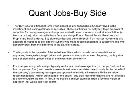 Mba Internship Buy Side Equity Analyst by Equity Research Buy Side 100 Original Papers Www