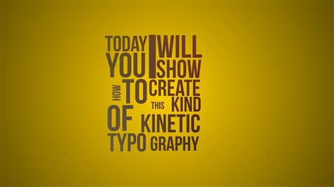 tutorial kinetic typography kinetic typography in after effects tutorial youtube