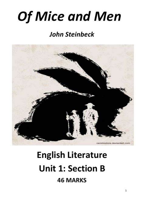 of mice and men section 4 of mice and men edexcel english literature revision guide