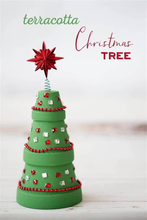 terracotta christmas tree christmas trees crafts and
