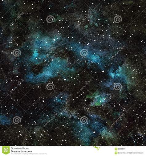 Emerald Black Syari watercolor sky with stock illustration image