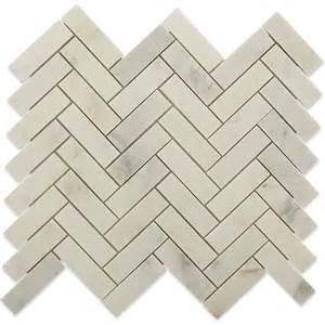 shop for asian statuary herringbone 1x3 marble tile at