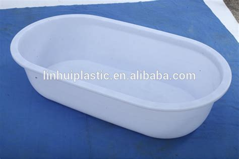 big plastic bathtub pe new material nesting plastic oval container bath tub
