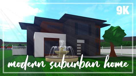 bloxburg modern  story suburban home step  step