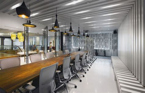 Office Space Restaurant Wooden Table White Chair Pendant L Room Office Design