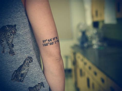 coordinate tattoo ideas 66 adventure coordinates ideas for your next trip
