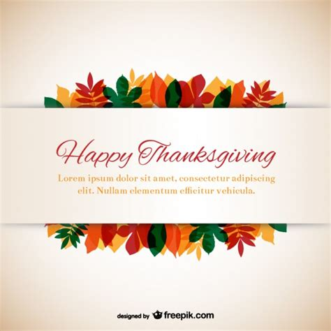 Happy Thanksgiving Email Templates by Thanksgiving Template With Leaves Vector Free