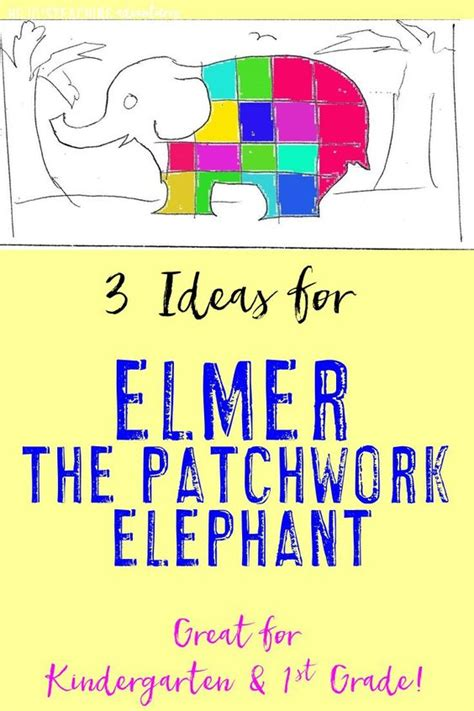 Elmer The Patchwork Elephant Lesson Plans - bring books to elmer the patchwork elephant