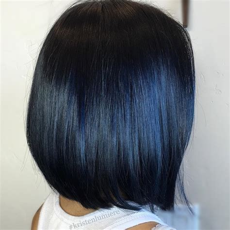 black bob with brown highlights blue black hair how to get it right