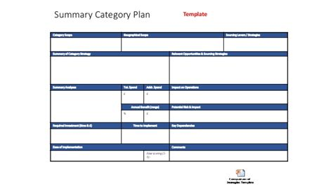 Free Set Of Templates To Super Charge Your Category Management Progra Category Management Plan Template