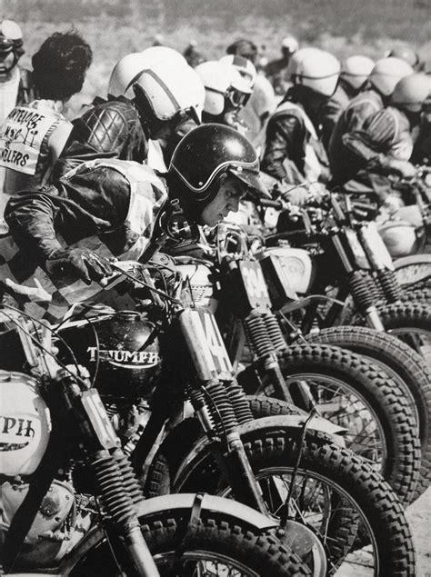 triumph motocross bike motorcyle steve mcqueen doin it in the dirt triumph