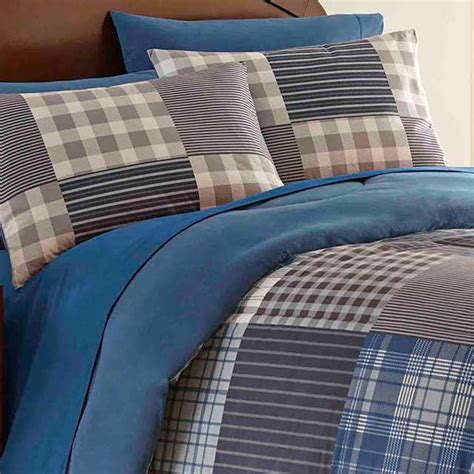 micro flannel comforter smokey mt blue plaid micro flannel printed comforters