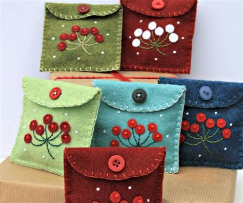 christmas gift bags felt purse and felt on pinterest