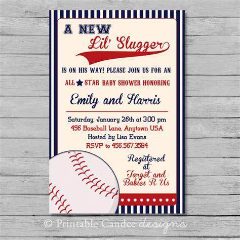 vintage baseball baby shower invitation baseball