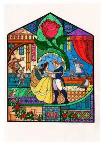 Disney Frozen Wall Stickers image beauty and the beast concept art stained glass jpg