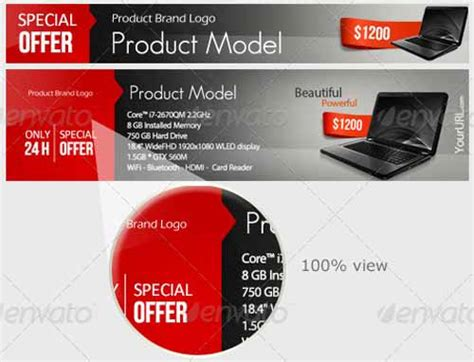product banner template free and premium web banner template collection psd