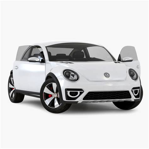 volkswagen beetle white 2016 volkswagen beetle 2016 white 3d model