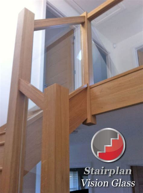 oak banisters and handrails glass and wood banister from stairplan stairs