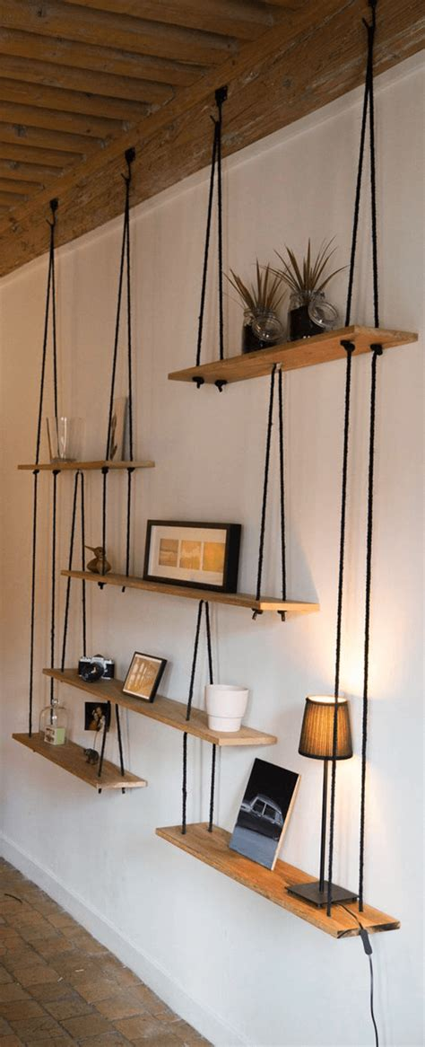 Suspended Shelf Ideas by L 233 Tag 232 Re Balan 231 Oire Une 233 Tag 232 Re Suspendue Pratique Et