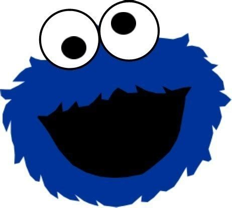 cookie monster face clipart best