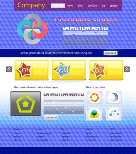 free website templates for adobe illustrator website design templates free vector in adobe illustrator