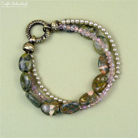 diy bead jewelry diy bead bracelet three strand crafts unleashed
