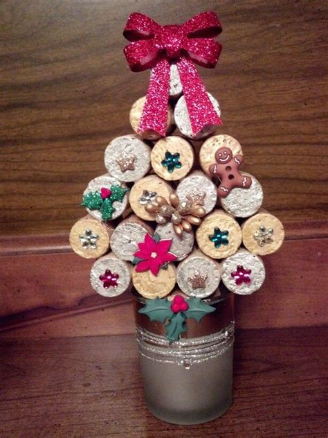 wine cork christmas tree craft gifts pinterest