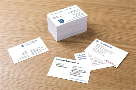 Gift Card Exles - columbia university student business cards best business cards