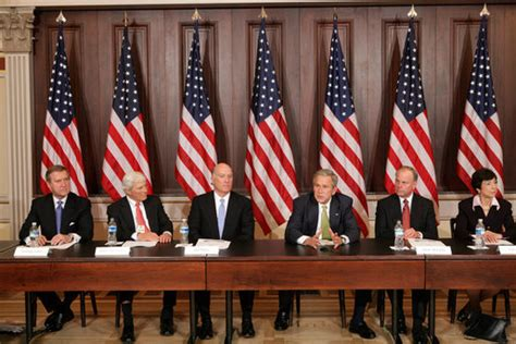 Government Cabinet by President Bush Meets With Former Cabinet Secretaries And