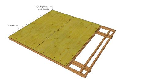 Plywood For Shed Floor by Barn Shed Plans Howtospecialist How To Build Step By Step Diy Plans