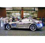 Check Out This Mercedes Benz SLR McLaren In White Gold