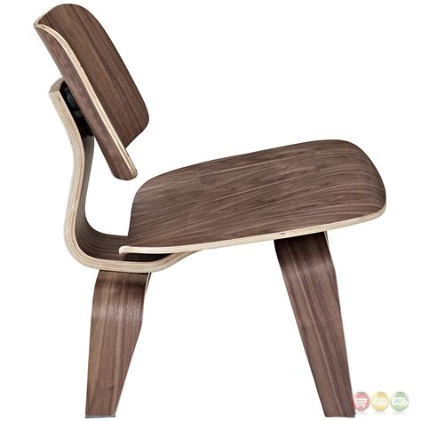 Curved Lounge Chair by Fathom Wood Panel Lounge Chair With Curved