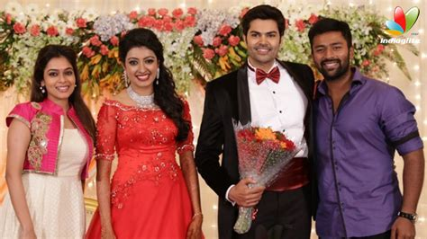 actor ganesh venkatraman age ganesh venkatraman and vj nisha krishnan wedding reception