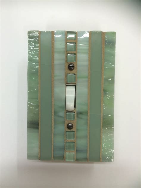 glass light switch covers green stained glass light switch cover mosaic switch plate