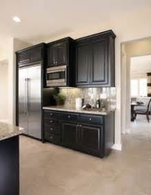 Small Kitchen Black Cabinets Great Design Black Kitchen Cabinets Complete With Small Rounded Handle Free Picture Of