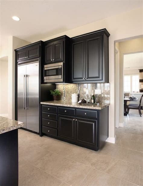 Black Kitchen Cabinets Images Great Design Black Kitchen Cabinets Complete With Small Rounded Handle Free Picture Of