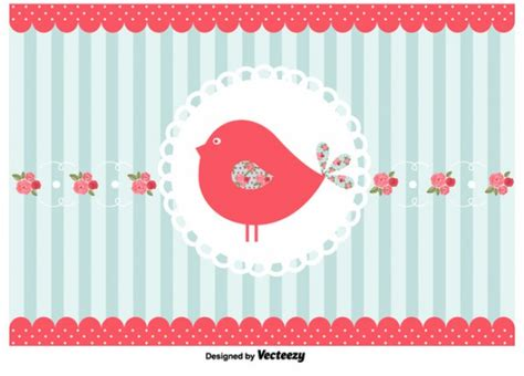 shabby chic bird background vector free download