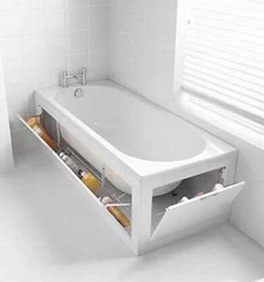 Supérieur Meuble Salle De Bain Orange #7: petite-salle-de-bains-rangement-baignoire-astucieux-deco.jpg