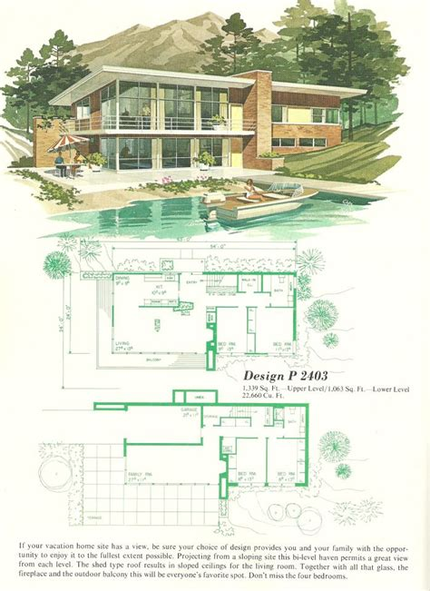 1960s house plans best ideas about vintage nice vintage house plans and