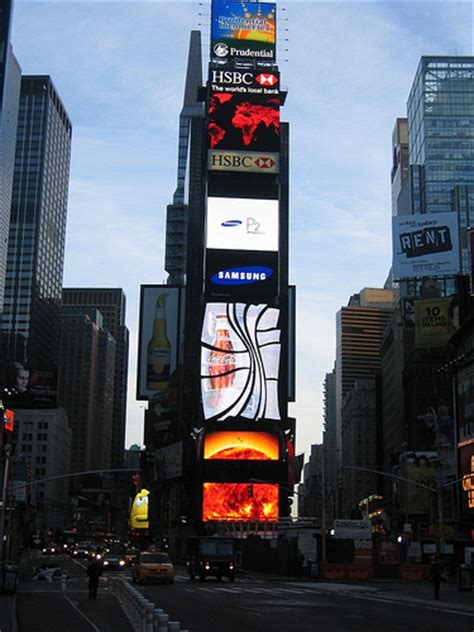 big tower tiny square all eyes are on the ads covering the times square tower