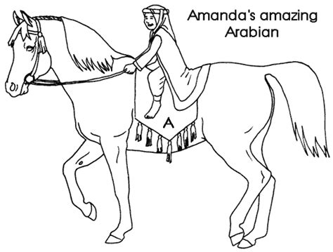 Arabian Horse Pictures To Color Arabian Coloring Pages