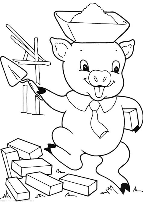 3 little pigs coloring pages coloring page 3 little pigs