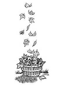 coloriage dessin feuilles d automne en vrac coloriages