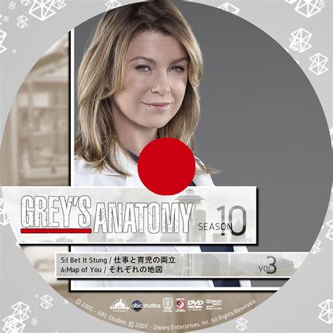 Grey Disc 10 snowのdvdラベル grey s anatomy グレイズ アナトミー 恋の解剖学