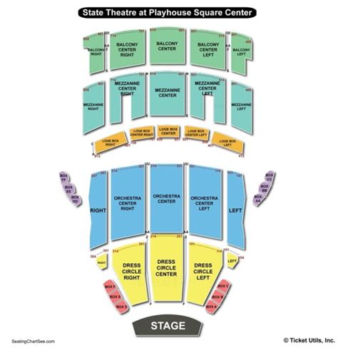 playhouse square seating state theater cleveland seating map www napma net