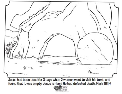Coloring Page Of Jesus Tomb | empty tomb bible coloring pages what s in the bible