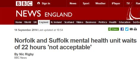 section 22 mental health bbc news norfolk and suffolk mental health unit waits of