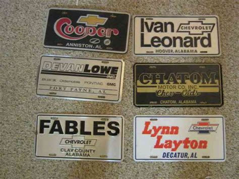 ivan leonard chevrolet inc 6 alabama dealer license plates buick olds pontiac gmc