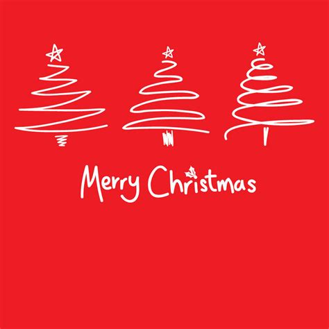 merry christmas modern contemporary red merry christmas tree card by megan